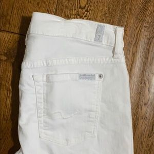 7 For All Mankind Shorts - White 7 for all man kind Bermuda shorts